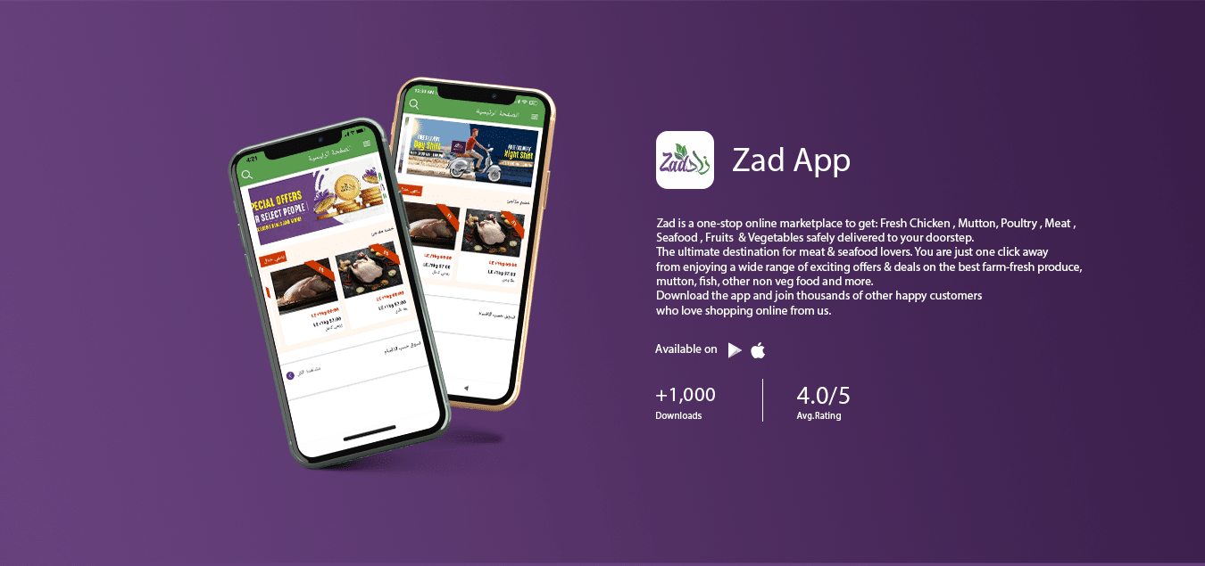 Zadis a one-stop online marketplace to get:Fresh Chicken , Mutton, Poultry , Meat , Seafood , Fruits & Vegetablessafely delivered to your doorstep. The ultimate destination for meat & seafood lovers. You are just one click away from enjoying a wide range of exciting offers & deals on the best farm-fresh produce, mutton, fish, other non veg food and more. Download the app and join thousands of other happy customers who love shopping online from us.